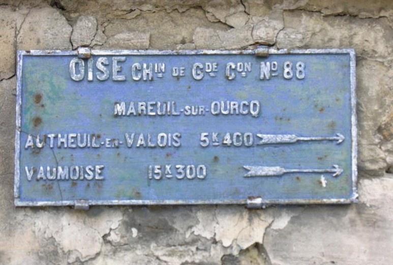 Plaque de l'Oise