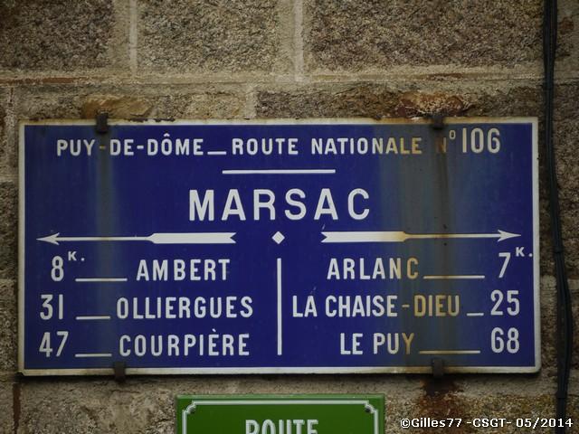 63 MARSAC 2 route d'Ambert + rue de la gare