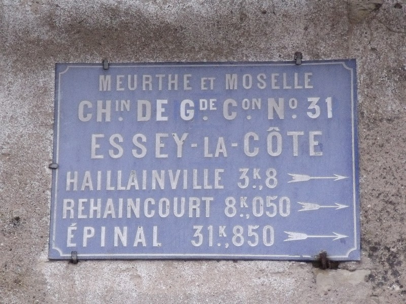 ESSEY LA COTE 54 PLAQUE TOLE