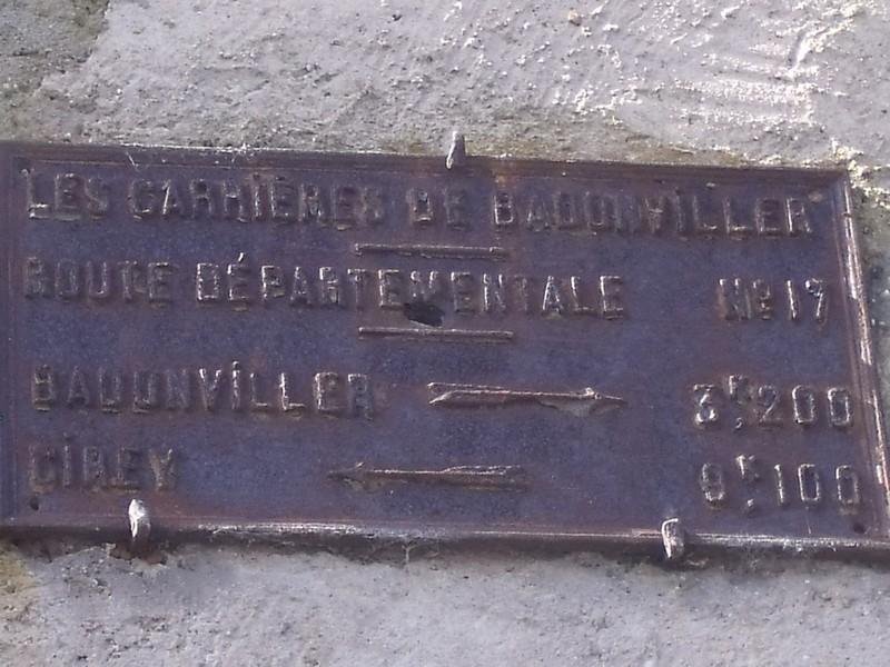 LES CARRIERES DE BADONVILLER 54