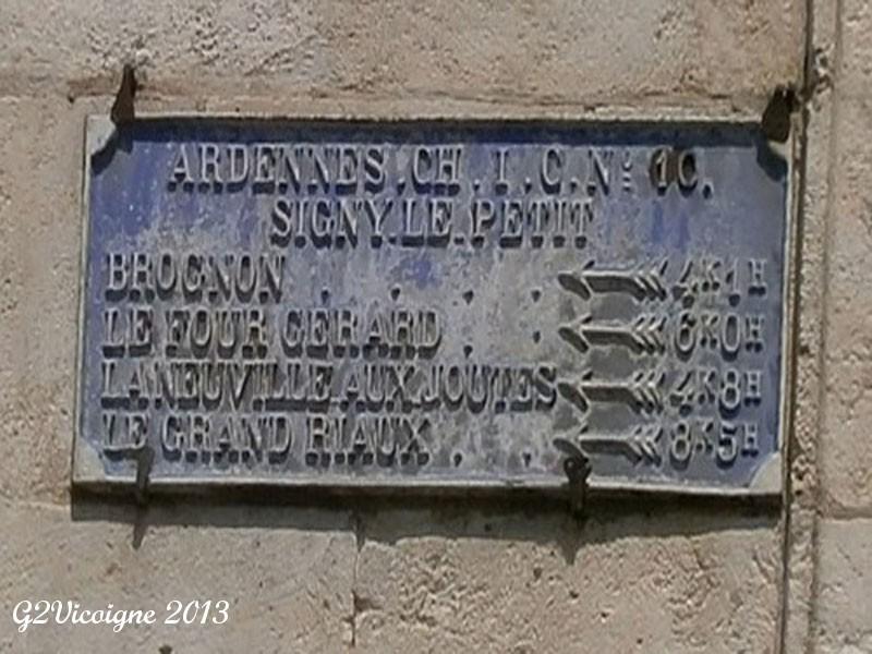 08 SIGNY LE PETIT Place de l'Eglise - Rue du Prieuré