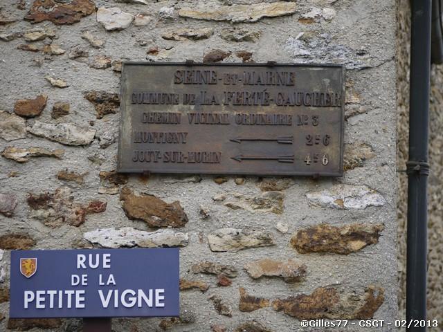 77 LA FERTE GAUCHER LA FREVILLARD rue de la petite vigne -