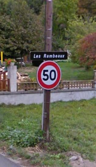 Les Rambauds panneau