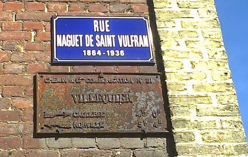 Plaque de cocher Villequier