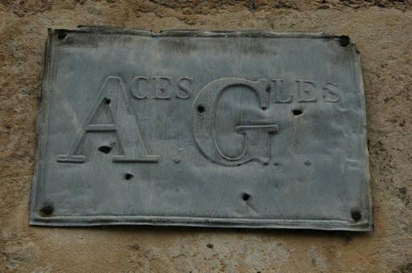 79 AZAY plaque zinc pub assurances 9145