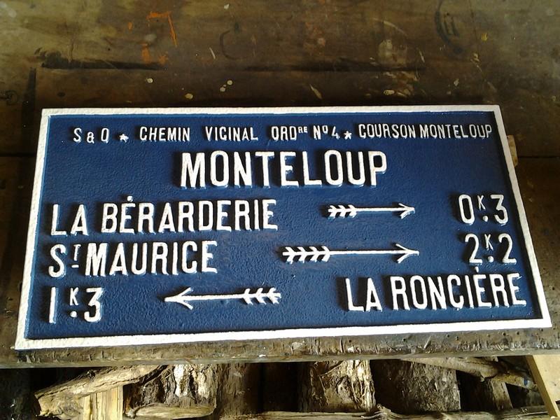Monteloup plaque rénovée
